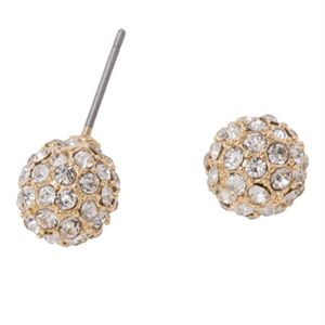 Picture of Gold Crystal Pave Studs