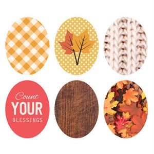 Picture of Fall Oval Locket Backdrops